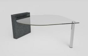 столик с мраморной ножкой