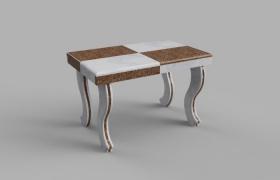 необычный столик из натурального мрамора