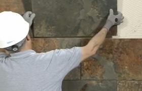Работы по облицовке фасада камнем