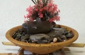 Декоративный комнатный фонтан из камня