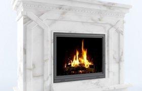 камин - мрамор Alabama White