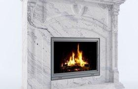 Мраморный камин Сарентино Piracetama White
