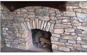 камин - отделка из натурального камня