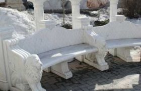 фото скамеек из мрамора