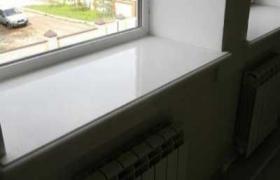 фотография белого мраморного подоконника
