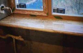 фотография мраморного подоконника в жилом помещении