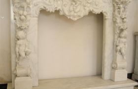 Мраморный портал для камина - фото 1