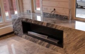 Камин с мраморным порталом - фото 2