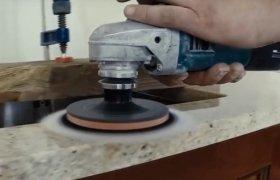 полировка места стыковки элементов столешницы