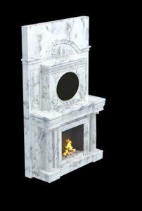 мраморный камин с часами