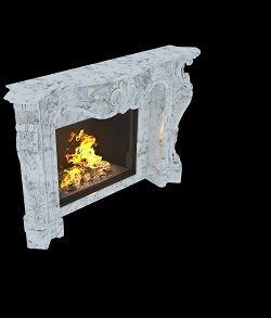 мраморный камин в стиле Ампир