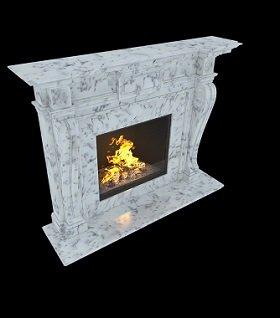 Мраморный камин с резными колоннами