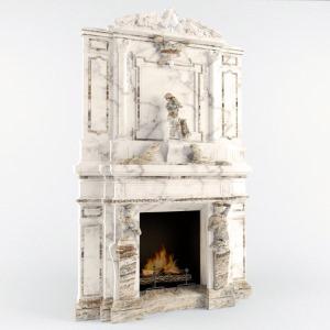 камин мраморный Барокко