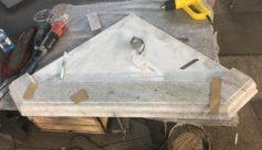 Сборка портала камина в цеху